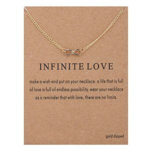 Infinite Love Choker Clavicle Chains Necklace NWT